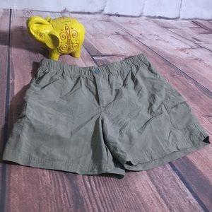 Columbia Nylon Shorts in Khaki Tan